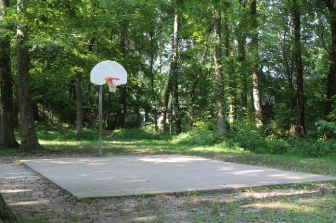 Basketball half court at Burchett Park